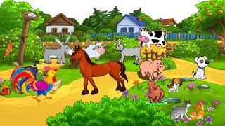 English for kids. Animals on the farm. Английский для детей. Животные на ферме.