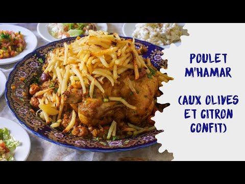 poulet-m'hamar-aux-olives-et-citron-confit-(recette-facile-et-trÈs-bonne-!)