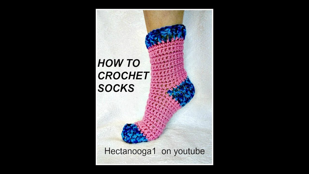 HOW TO CROCHET SOCKS Demo For 40 40 Yrs Pattern 40404 Video Inspiration Crochet Sock Pattern