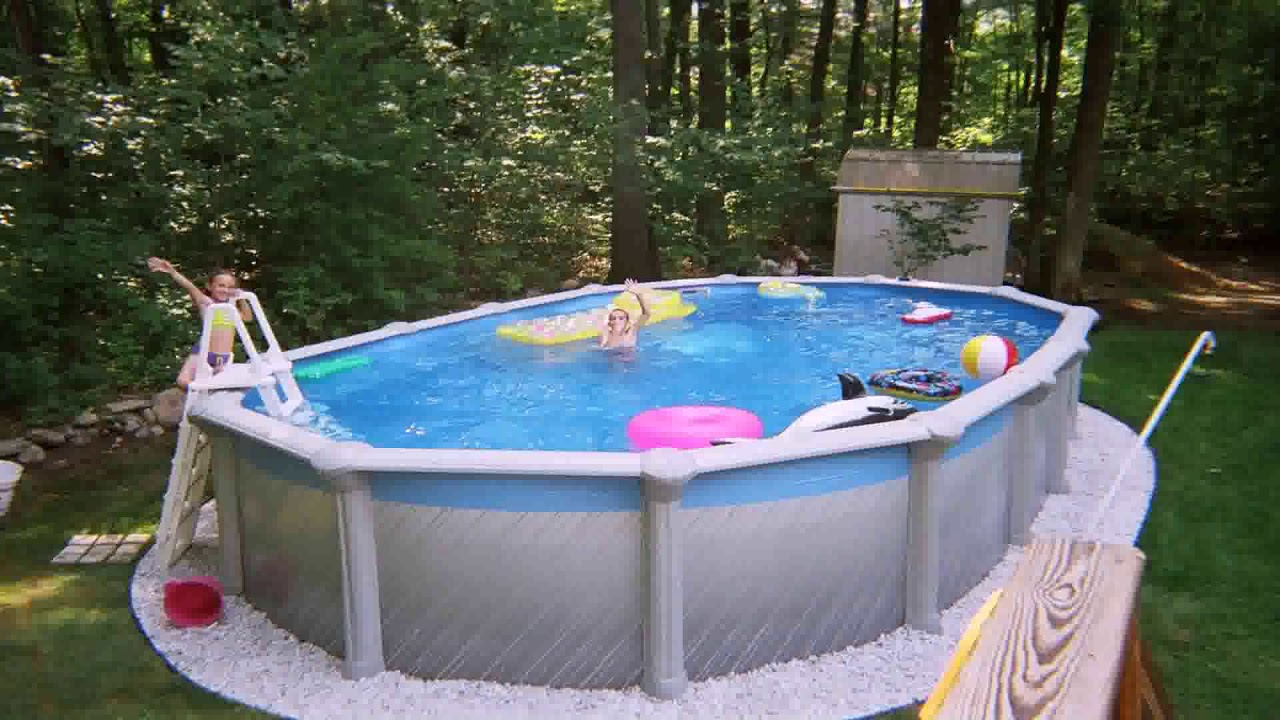 Landscaping Ideas Around Above Ground Pool Deck Youtube