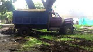 Stuck in Mud old dump Truck part 1