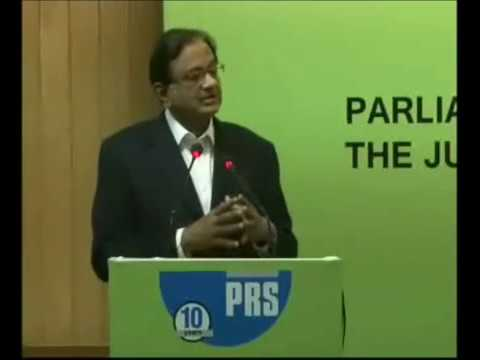P Chidambaram's comments at the PRS Annual Conference, 2016: Parliament and the Judiciary
