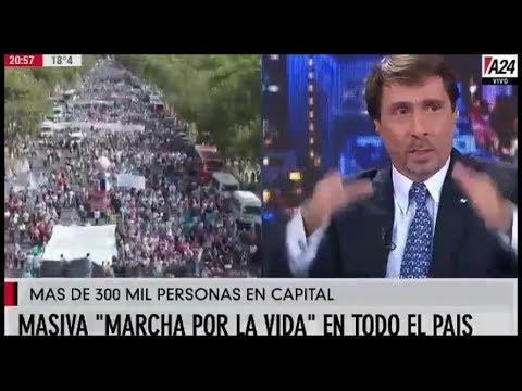 Feinmann muestra la marcha Provida que el periodismo abortista invisibiliza.