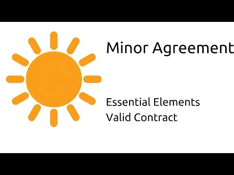 Law related to Minor agreement | Other Essential Elements of a Valid Contract | CA CPT | CS & CMA