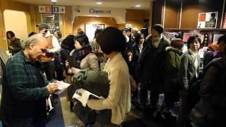 Amir Naderi meeting and greeting audiences at CInemart Shinjuku - D...