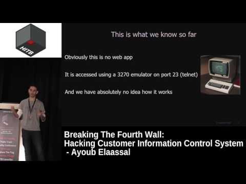 #HITB2017AMS D1T1 - Hacking Customer Information Control System - Ayoub Elaassal