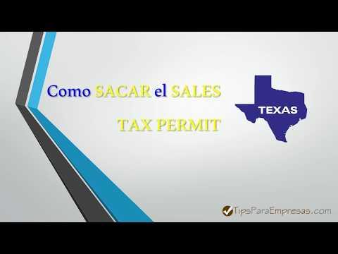 📝 Como Sacar el PERMISO de VENTAS en Texas o Sales Tax Permit👍