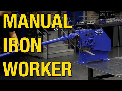 Manual Iron Worker Metal Shear  - Cut Plate Steel, Angle Iron, Round & Square Stock - Eastwood