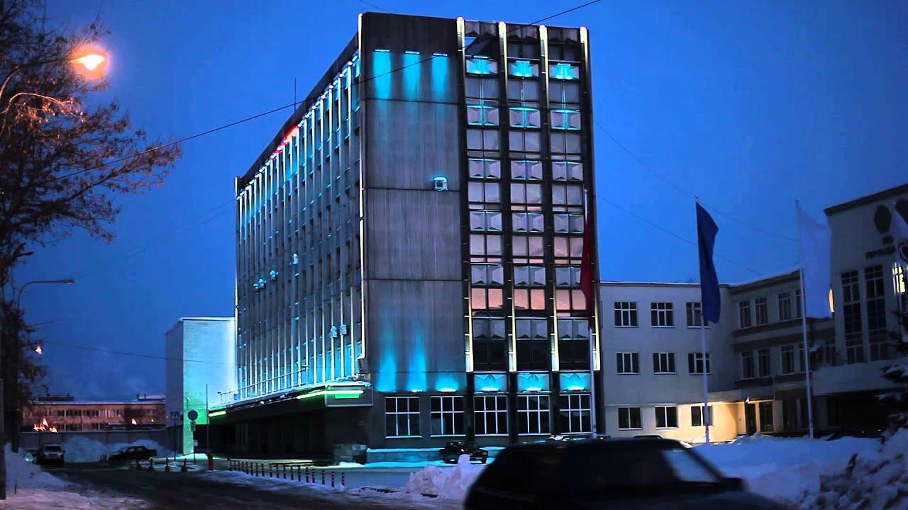 Архитектурная подсветка здания ПМЗ