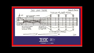 Breaking News | THX Just Shared the Original Sheet Music for its