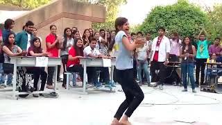 best haryanvi college dance on stage sexy girl dance jaberdast dance ek ladki ka