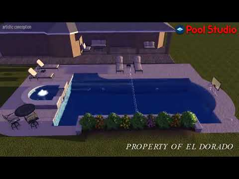 El Dorado 3D Swimming Pool Design - #5 Combination