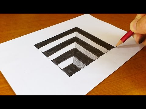 Very Easy!! How To Draw 3D Hole for Kids - Anamorphic Illusion - 3D Trick Art on paper