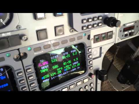 Hawker 800XP in cruise