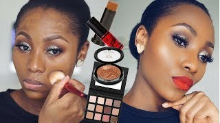 TRYING OUT NEW MAKEUP (FIRST IMPRESSIONS MAKEUP TUTORIAL) | DIMMA UMEH