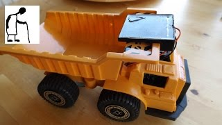 Let's convert a cheap toy truck to solar power