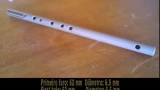 Como fazer uma flauta de PVC em A - How to Make a PVC Flute in A