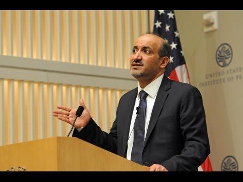(Arabic) The Future of the Syrian Revolution: President Ahmad Jarba's First Washington Address