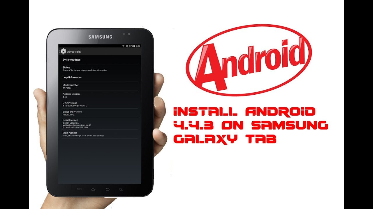 Samsung Galaxy Tab P1000 L 1010 A Kitkat Solo Peru Youtube