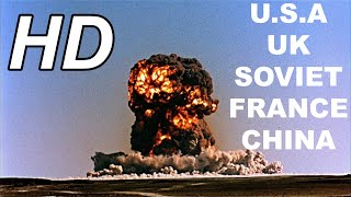HD The first atomic bomb of Five countries 1945~1964 USSR China UK French USA