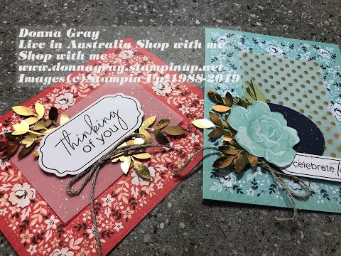 Episode 225 Stampin Up! 2020 Mini Catalogue Sale A Bration Kerchief Card Kit With DonnaG!