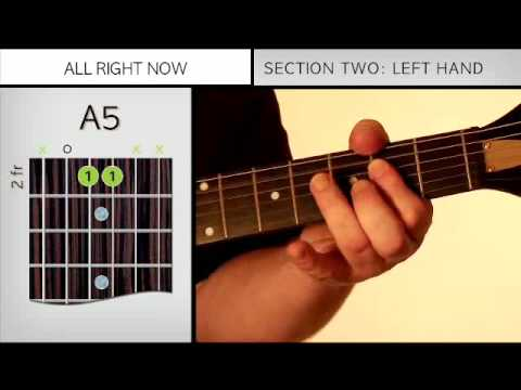 Free  All Right Now  Guitar Lesson
