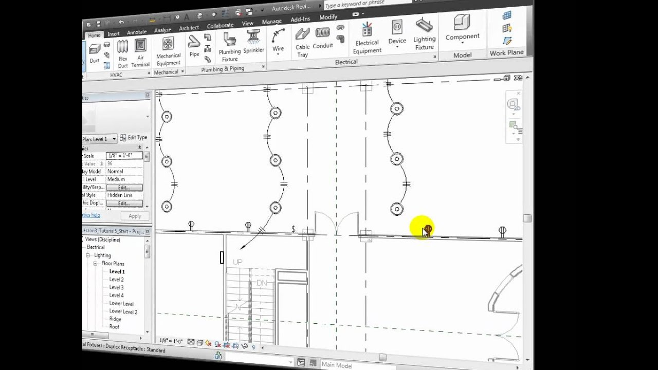 revit mep - modeling electrical receptacle circuits - youtube electrical plan revit 2013