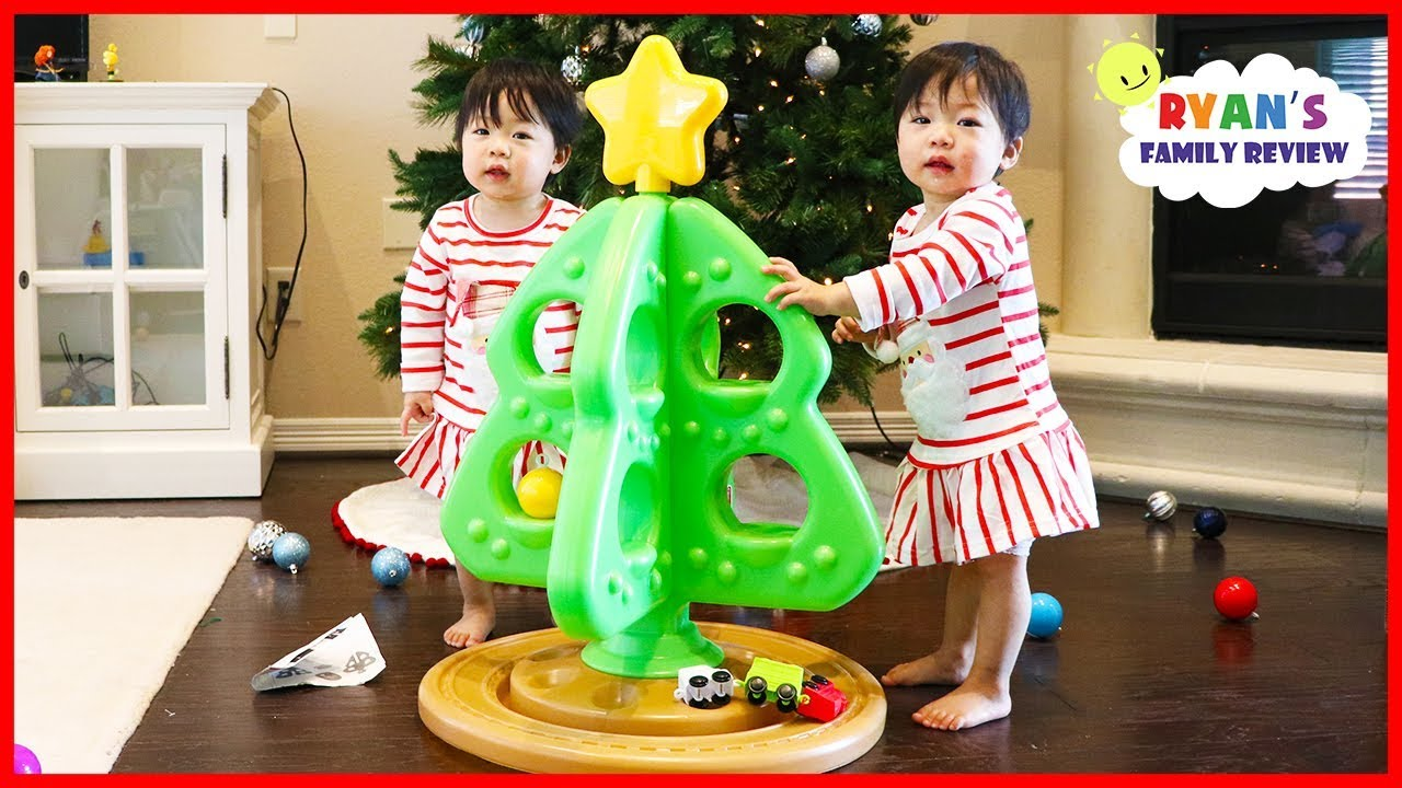 twin babies first christmas tree toy from step2 with choo choo train