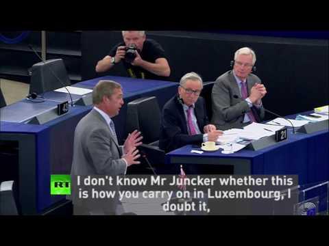 """Bullying Brits isn't working"" - Farage condemns Juncker's behaviour"