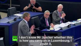 Nigel Farage lays into Juncker's behaviour following his dinner wit...