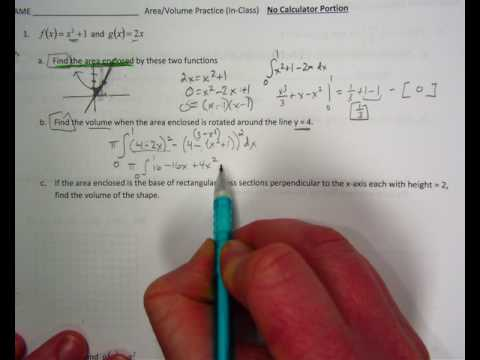 area volume AP style worksheet #1 no calculator