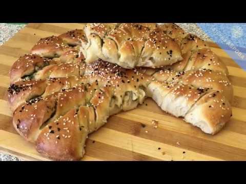 Чесночный хлеб на закваске.  Устоять невозможно
