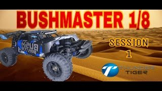 Gambar cover Thunder tiger BushMaster 1/8 Desert Buggy ( first Bash Session)