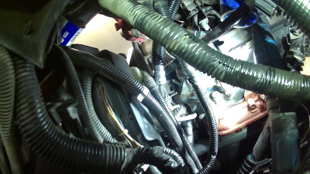 Power steering pressure hose 2003 Chevrolet Silverado Duramax hydraulic booster  YouTube