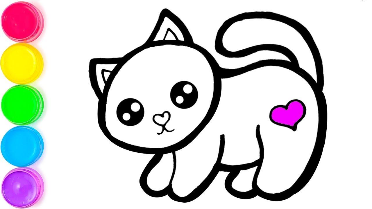 Pelajari Menggambar Dan Mewarnai Kucing Mainan Untuk Anak Anak