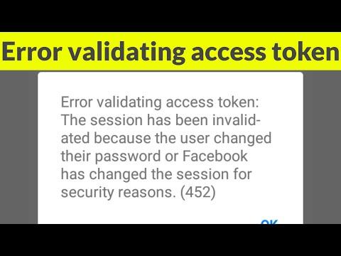 Facebook error message error validating application type oauthexception