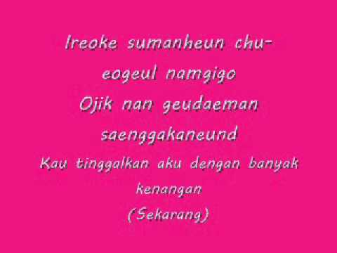 SNSD - Tears Lyrics Romanization & Indo sub