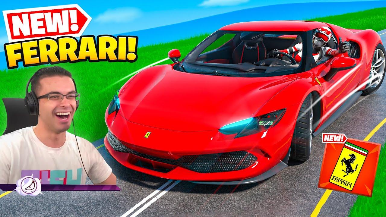Nick Eh 30 reacts to Ferrari in Fortnite!