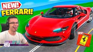 Nick Eh 30 reącts to Ferrari in Fortnite!