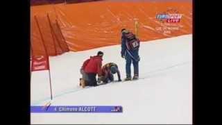 Chemmy Alcott ski crash