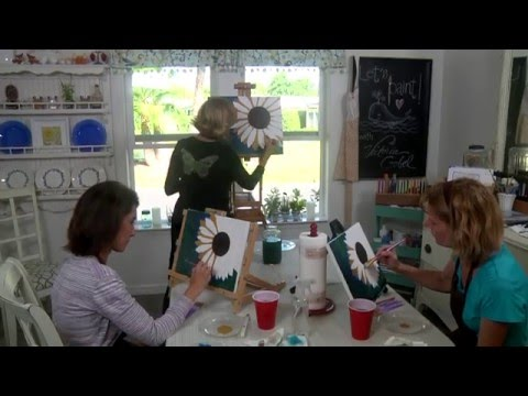 Yellow Gerber Daisy Painting Lesson