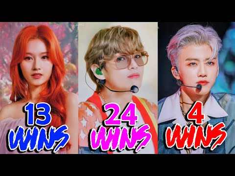 Kpop Songs with Most Wins in  Shows of 2020
