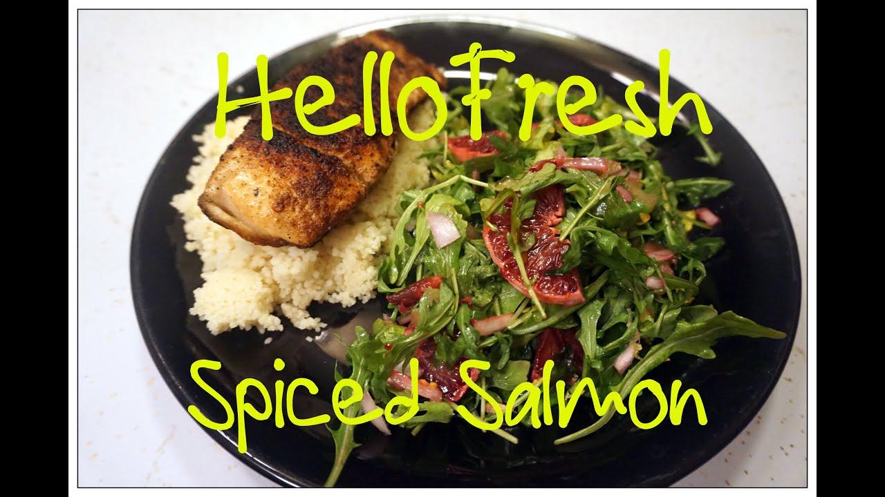 Hello Fresh Recipe - Spiced Salmon with Blood Orange ...