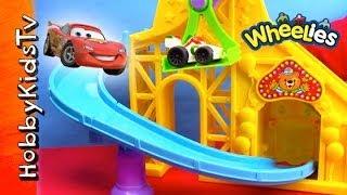 Mater Wheelies Roller Coaster with Lightning McQueen HobbyKidsTV thumbnail