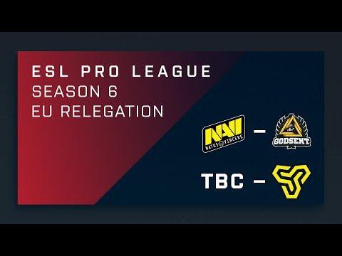 CS:GO - Na'Vi vs. GODSENT - EU Relegation - ESL Pro League Season 6