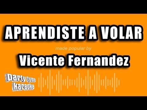 Vicente Fernandez - Aprendiste A Volar (Versión Karaoke)
