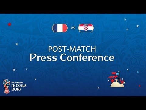 2018 FIFA World Cup Russia™ - FRA vs CRO - Post-Match Press Conference