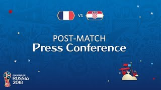 2018 fifa world cup russia - fra vs cro - post-match press conference