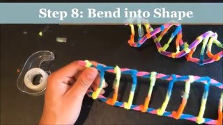 WIE MAN EIN DNA-MODELL MIT PIPECLEANERS. PROJEKT DEMONSTRATION