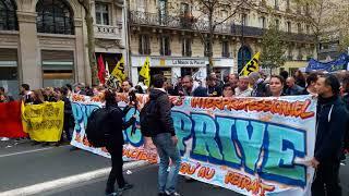 Manifestation des syndicats de la Fonction Publique. Paris/France - 10 Octobre 2017